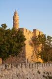 Citadelle de David, Jérusalem, Israël photos libres de droits