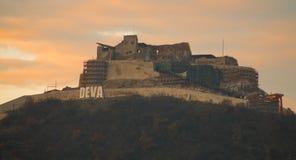 Citadelle de Deva Images libres de droits