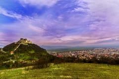 Citadelle de Deva Photos libres de droits