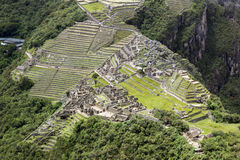 Citadelle de Machupicchu Images stock