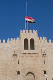Citadelle de Qaitbay, l'Alexandrie, Egypte Photo stock