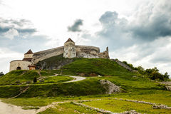 Citadelle de Rasnov - forteresse médiévale de la Transylvanie, Roumanie photo stock