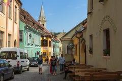 Citadelle de Sighisoara, Roumanie images libres de droits