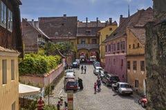 Citadelle de Sighisoara, Roumanie Photos libres de droits