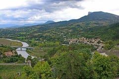 Citadelle de Sisteron dans les Alpes français Photographie stock libre de droits