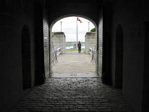 Citadelle en vieille entrée de fort de Halifax Photo stock