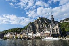 Citadelle enrichie dans Dinant, Belgique Photo stock
