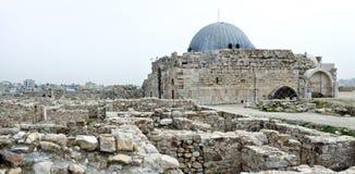 Citadelle Jordanie, Al-Qasr d'Amman Photo libre de droits