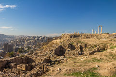 Citadelle Jordanie d'Amman Photos libres de droits