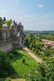 Citadelle médiévale de Carcassone, France Photo stock