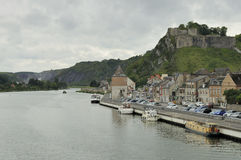 Citadelle and meuse, givet, ardennes Royalty Free Stock Images