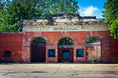 Citadelle - porte d'exécution à Varsovie Images stock