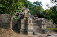 Citadellen av Yapahuwa, Sri Lanka Arkivbilder