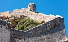 Citadellen på vagga Bonifacio Korsika ö royaltyfria foton