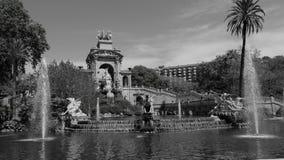 Citadellen parkerar Barcelona Arkivfoton