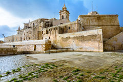 Citadellen, Victoria, Gozo, Malta Royaltyfria Bilder
