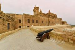 Citadellfästning på den Gozo ön, Malta arkivfoto