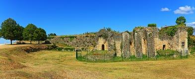 Citadelruïnes, Blaye, Frankrijk Stock Foto