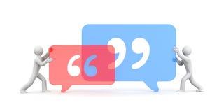 citações Povos e símbolo das citações Imagens de Stock