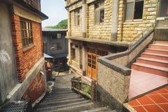 Citang Stara ulica - Lipiec 25, 2017: Citang Stara ulica jest sławna sceniczna w Ruifang okręgu, Nowy Taipei miasto, Tajwan Fotografia Stock