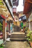 Citang Stara ulica - Lipiec 25, 2017: Citang Stara ulica jest sławna sceniczna w Ruifang okręgu, Nowy Taipei miasto, Tajwan Zdjęcia Stock