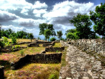 Citania of Briteiros. Proto-historic settlement in Citania of Briteiros royalty free stock photo