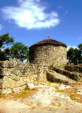 Citania of Briteiros. Proto-historic settlement in Citania of Briteiros stock image