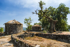 Citania de Briteiros,葡萄牙 免版税库存照片