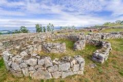 Citania de Sanfins Castro Village (acuerdo prehistórico Céltico-ibérico fortificado) en Pacos de Ferreira Fotografía de archivo libre de regalías