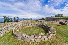 Citania de Sanfins. A Castro Village (fortified Celtic-Iberian pre-historic settlement) in Pacos de Ferreira. Portugal Royalty Free Stock Photo