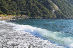 Citara beach, Ischia. Citara - the best beach on Ischia where Poseidon Terme is located Stock Image
