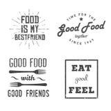 Citas de la comida stock de ilustración