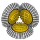 Citas de monedas Concepto Imágenes de archivo libres de regalías