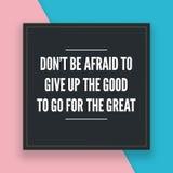 Citas de motivación para la vida de cada día imagen de archivo libre de regalías