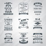 Citas del éxito fijadas libre illustration