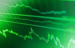 Citas del mercado de acción en la exhibición Reloj del precio de Bitcoin Carta común del fondo Imagen de archivo libre de regalías