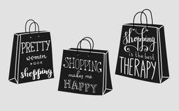Citas sobre compras Imagen de archivo