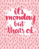 Citation - c'est lundi mais c'est correct expression illustration de vecteur