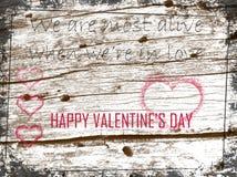 Citation d'Art Greeting Card With Love de jour du ` s de Valentine Photos stock
