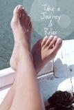Citation d'aventure de voyage Image stock