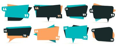Citation dans les citations Cadres de remarque, cadre pour l'idée et ensemble de vecteur de calibre de citation illustration libre de droits
