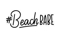 Citation de lettrage de bébé de plage avec le hashtag Été qu inspiré Images stock