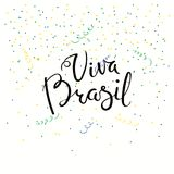 Citation de lettrage de Viva Brazil illustration stock