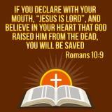 Citation de motivation chrétienne Vers de bible Le soleil croisé et brillant illustration libre de droits
