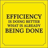 Citation de motivation L'efficacité fait mieux Photos stock