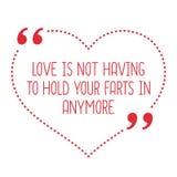 Citation drôle d'amour L'amour ne doit pas tenir vos pets dans l'anymo illustration libre de droits