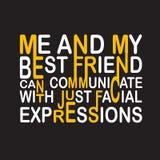 Citation et dire d'amitié bonnes pour la conception d'impression illustration libre de droits