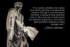Citation inspirée de Johannes Gutenberg photo stock