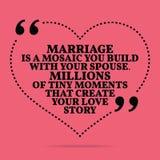 Citation inspirée de mariage d'amour Le mariage est une mosaïque vous buil illustration de vecteur