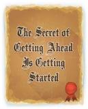 Citation inspirée de motivation sur le fond de vintage illustration de vecteur